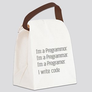 I Write Code Canvas Lunch Bag